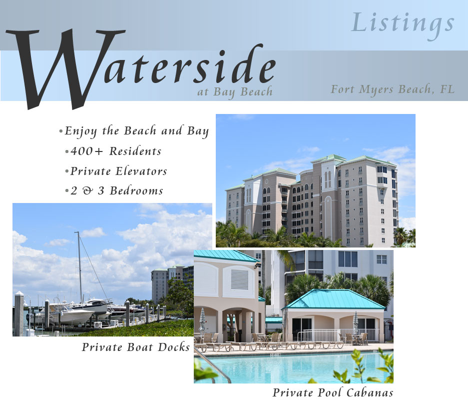 Fort Myers beach Water side at Bay Beach Listings